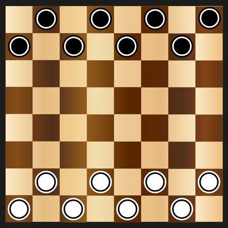checkers: Chessboard and checkers,chessboard