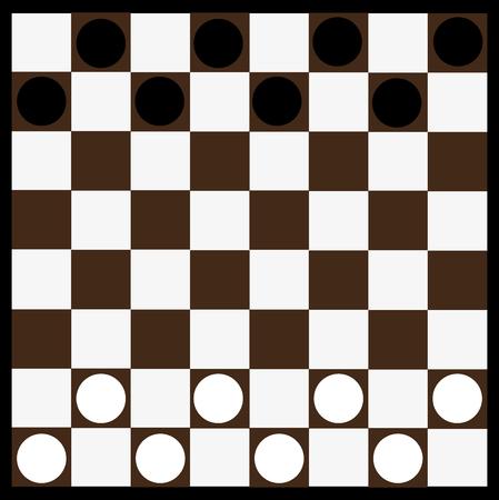 tablero de ajedrez: Tablero de ajedrez y de damas, tablero de ajedrez Vectores