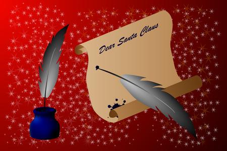 vellum: letter for Santa Claus , Dear Santa Claus,
