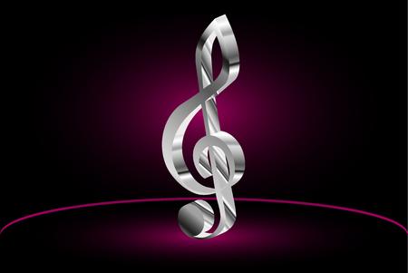 chiave di violino: Violin key, music clef symbol, Vettoriali