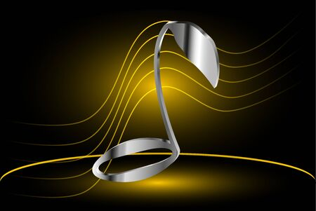 Music note vector, note and stave, Illustration