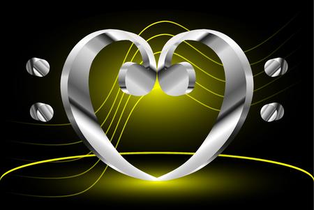 clave de fa: Corazón - clave de fa, duela Nota de la música y la clave de Fa corazón,