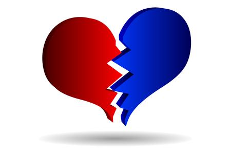 bursting heart vector, broken heart, Vector Illustration