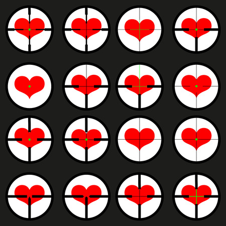 heart ,  targeted at heart, reticule, viewfinder, target graphics,