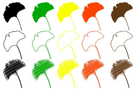 ginkgo leaf - color set