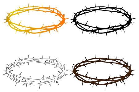 イエス キリストの茨の冠クラウンします。  イラスト・ベクター素材