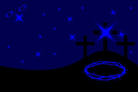 golgotha: Three crosses standing on Golgotha, Easter - Golgotha,