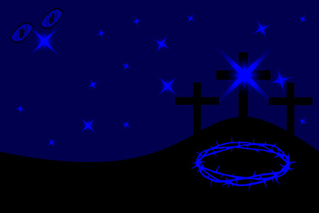 Three crosses standing on Golgotha, Easter - Golgotha,