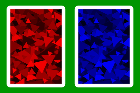 Playing Card Back Designs.  イラスト・ベクター素材
