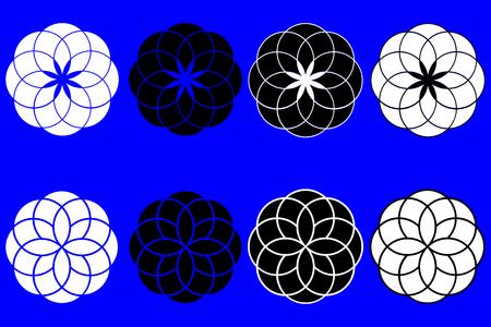 symol: flower of life vector, set,