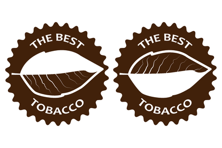 poison: tobacco - the best - sticker - vector illustration Illustration