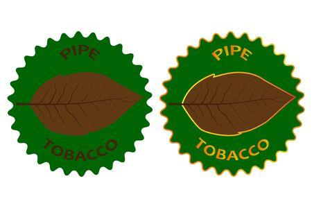 poison: tobacco - pipe - sticker - vector illustration
