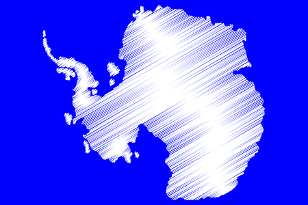 Antarctic map vector illustration,