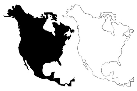 north america map vector illustration scribble sketch north rh 123rf com north america vector map with states and provinces north american free vector map