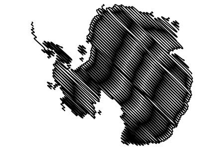 antarctic: Antarctic map vector illustration. Illustration