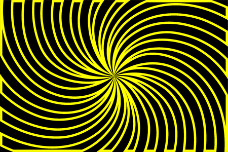 Striped black and yellow abstract background