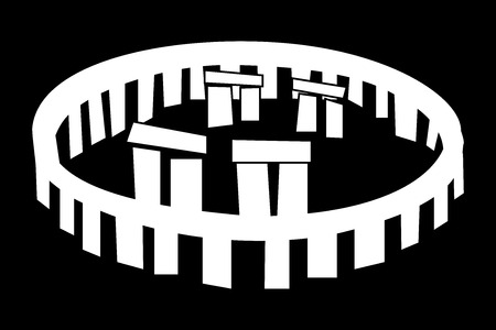 english culture: stonehenge vector icon , Stonehenge monument,