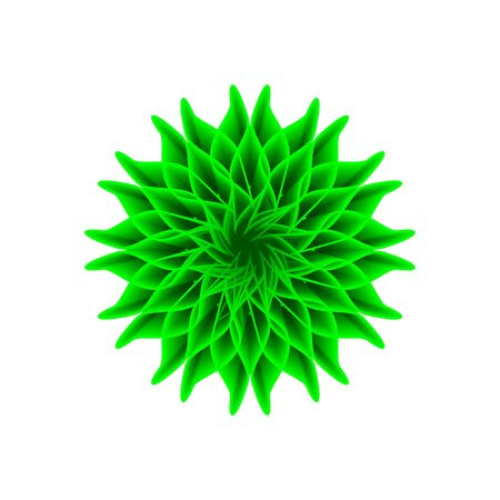 green flower on a white background