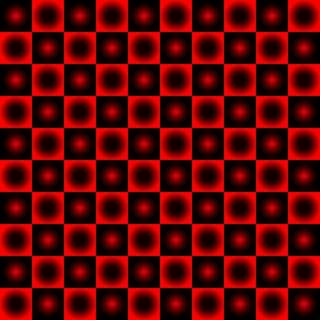 Black and red chessboard, abstract geometric background Illustration