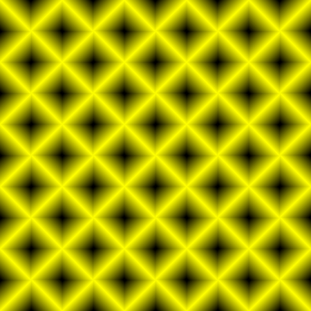 mosaic: Black and yellow chessboard, abstract geometric background Illustration