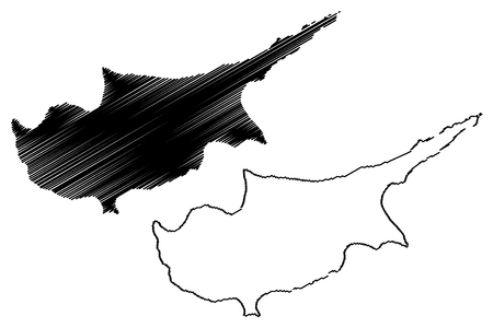 Cyprus Outline Cliparts Stock Vector And Royalty Free Cyprus - Cyprus blank map