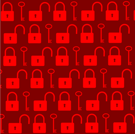 Key and lock vector pattern,