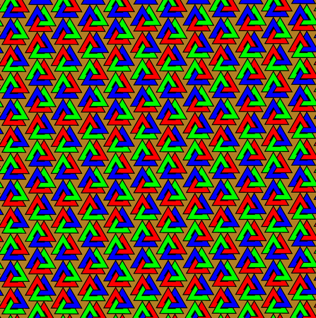Valknut vector pattern, Valknut colorful background