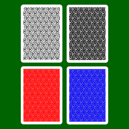Playing Card Back Designs, Triskele pattern vector set,