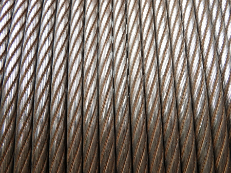 Steel rope background texture,