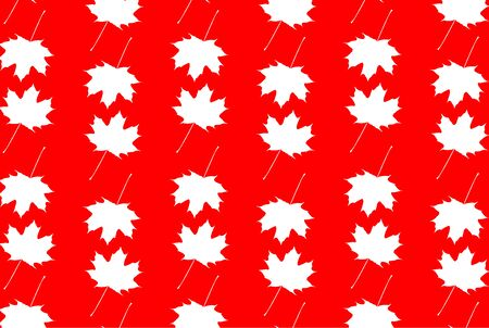 Maple leaf white and red pattern.