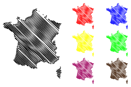 corsica: France map vector illustration, scribble sketch  France map