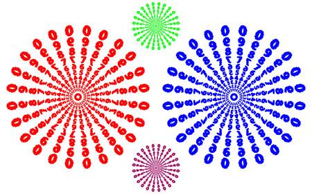 Flower Mandala, Vintage decorative elements, Number pattern, vector illustration,