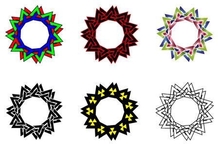 Valknut vector pattern, Valknut black and white background