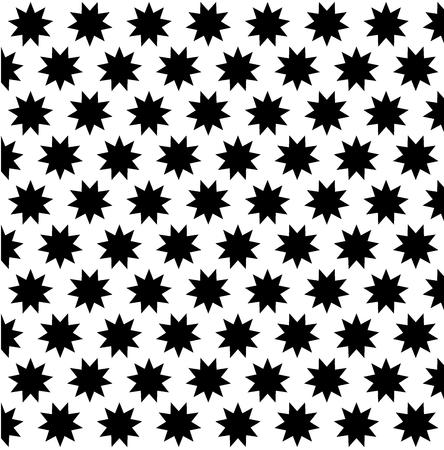 Black nine pointed star on white background - vector pattern,  Symbol of Bahai Faith pattern, Bahai symbol,