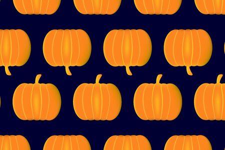 Ripe pumpkin on a blue background vector illustration, Illustration