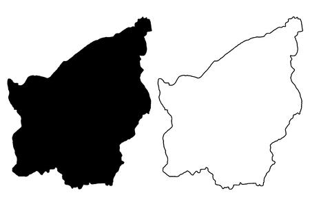 San Marino map vector illustration, scribble sketch San Marino Illustration