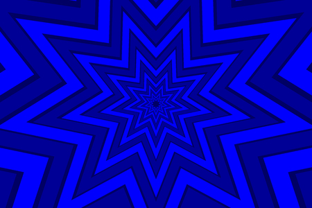 nine pointed star blue abstract vector pattern