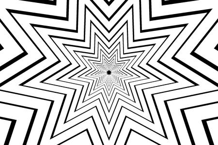 nine pointed star black abstract vector pattern Illustration