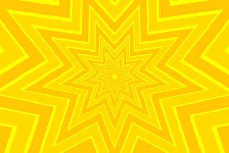 nine pointed star yellow abstract vector pattern Illustration
