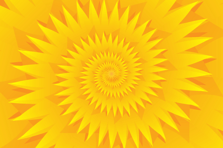 Star yellow abstract pattern, Concentric star shapes - yellow
