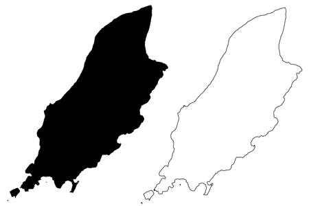 Isle of Man map vector illustration, scribble sketch Man island Illustration