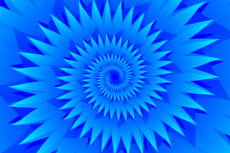 Star blue abstract vector pattern, Concentric star shapes - blue