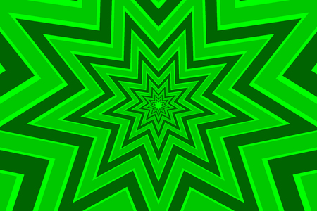 nine pointed star green abstract.
