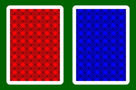 Playing Card Back Designs. Illustration