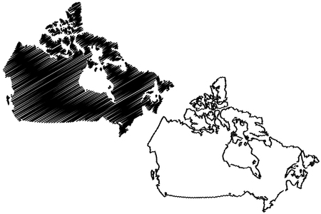 North America Map Vector Illustration Scribble Sketch North - Us map sketch