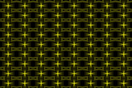 Yellow cross abstract vector pattern Illustration