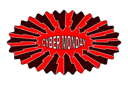 Cyber Monday - sticker, Abstract vector - Cyber Monday - label