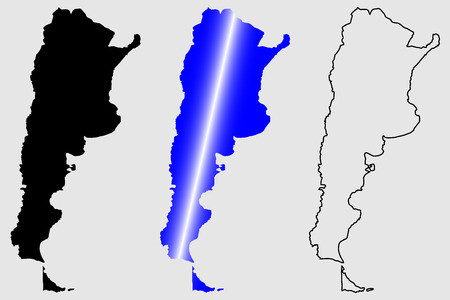 Argentina map vector illustration, scribble sketch Argentine republic