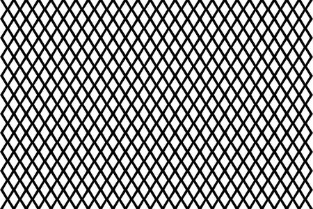 Mesh - abstract black and white pattern - vector, Abstract geometric pattern with lines, Vector illustration of fence,  イラスト・ベクター素材