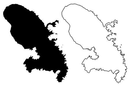 Martinique map icon.